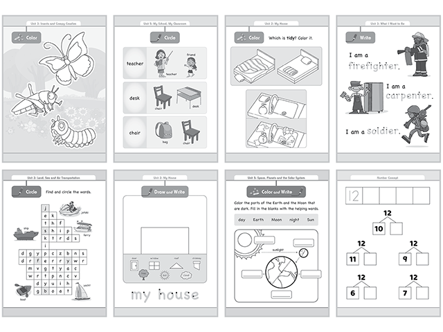 Worksheets | Town4kids Kindergarten System